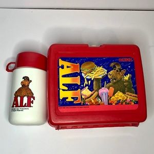 Vintage 1987 Alf Lunchbox with Thermos